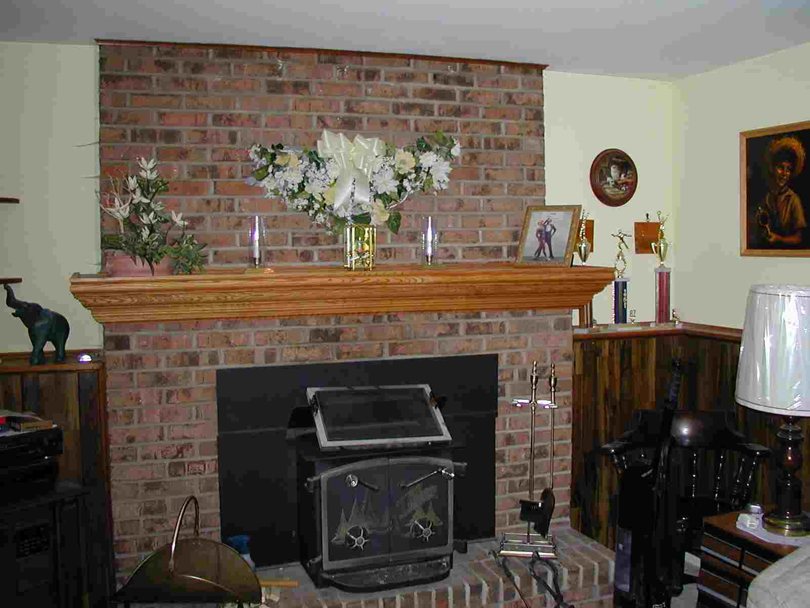 Fireplace Mantel Shelf I did this fireplace mantel in